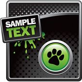 picture of paw-print  - paw print black halftone grungy ad - JPG
