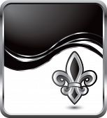 fleur de lis black wave background