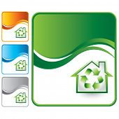 recycled home colored wave backgrounds
