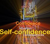 picture of self-confident  - Background concept wordcloud illustration of self - JPG