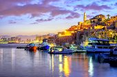 Yafo Old Town Port On Sunset, Tel Aviv, Israel poster