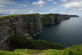 stock photo of cliffs moher  - The Cliffs of Moher in the republic of Ireland - JPG