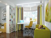Bright And Cozy Room In Modern Style poster