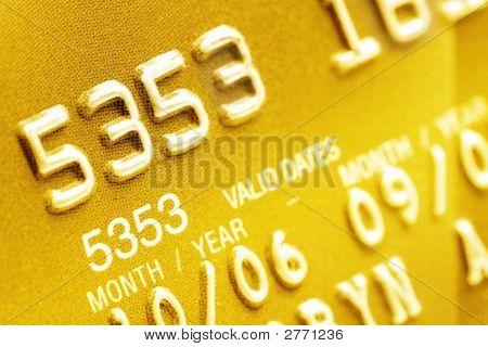 Closeup de cartão de crédito