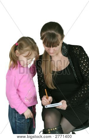 Girl With Pencil