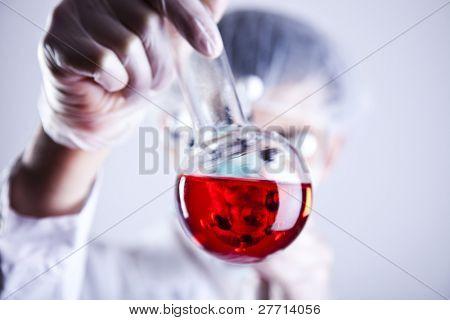 Male researcher in the laboratory