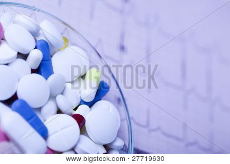 Medical stethoscope, Medicines collection