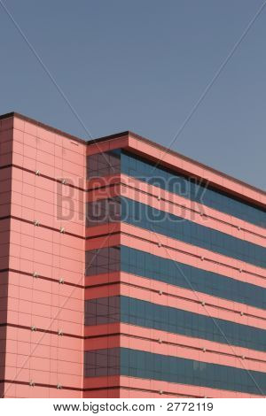 Pink Office Building