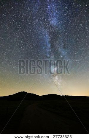Starry sky on a clear
