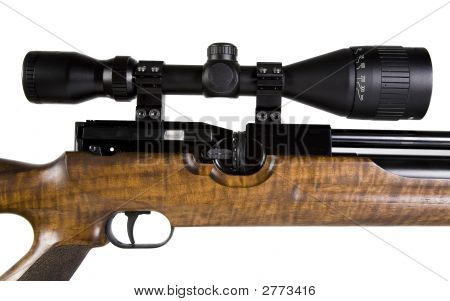 Telescopic Sight On Snipers Rifle