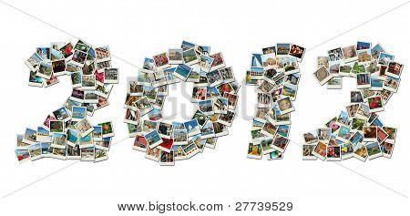 2012 Pf Card Collage Made Of Travel Photos With Famous Landmarks Of Israel,greece,india,italy