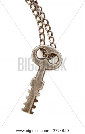 Antique Key Isolated