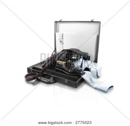Messy Open Suitcase