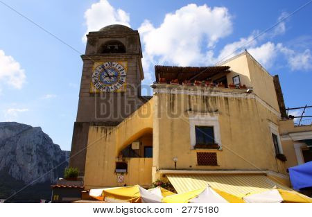 Clocks On Capri Tower