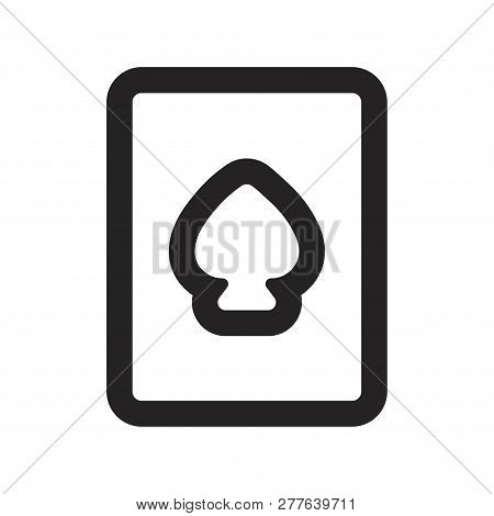 Playing Card Vector Icon On