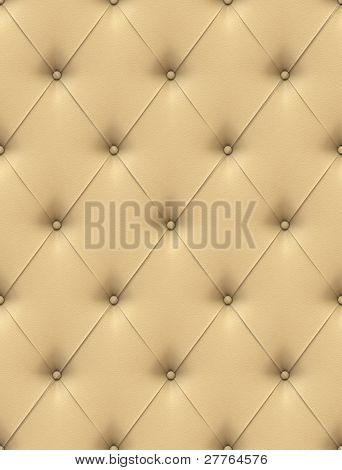 Beige Leather Upholstery