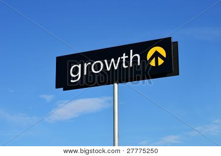 """growth"" Street Sign"