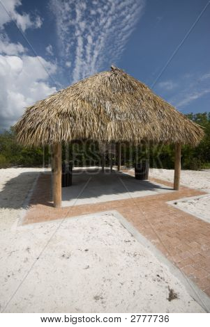 Tiki Hut Thatch Roof Coco Plum Beach Florida Keys