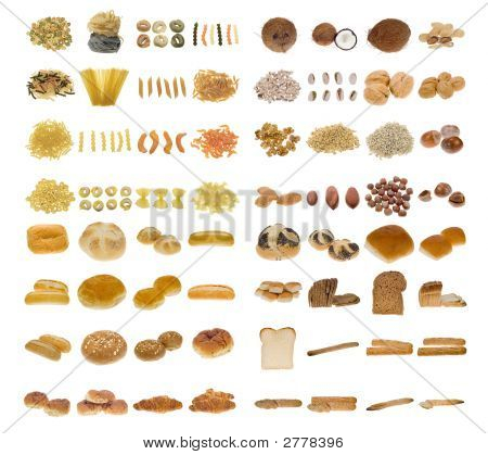 Pasta, Bread And Nuts