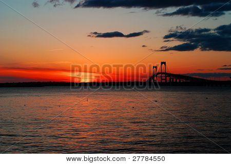 Sunset on the Claiborne Pell Bridge