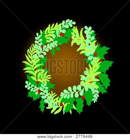 Holiday Green Wreath