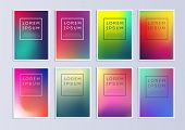 Vector Template Covers With Gradient Pattern. Set Of Vector Cover Templates. Modern Set Of Covers. C poster