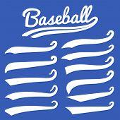 Swash And Swoosh. Vintage Swashes Baseball Typography Swirl Tails. Retro Style Vector Set. Illustrat poster