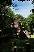 Wat Khong Chai Historical Park In Kamphaeng Phet, Thailand (a Part Of The Unesco World Heritage Site poster