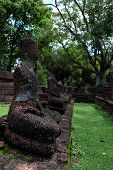 Wat Phra Kaeo With Buddha Statues Historical Park In Kamphaeng P poster