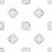 Cracked Biscuit Icon. Outline Illustration Of Cracked Biscuit Icon For Web Design Isolated On White  poster