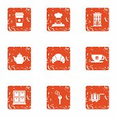 Personal Room Icons Set. Grunge Set Of 9 Personal Room Icons For Web Isolated On White Background poster