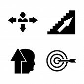 Personal Career, Head Hunting. Simple Related Vector Icons Set For Video, Mobile Apps, Web Sites, Pr poster