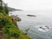 The Rugged Coast Of Vancouver Island Along The Famous West Coast Trail Hike, In British Columbia, Ca poster