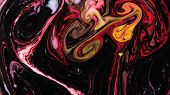 Psychedelic Patterns Blend Into Abstract Shapes In White Water poster