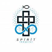 True Infinite Christian Belief In God, Vector Creative Symbol Design, Combined With Infinity Eternal poster