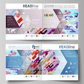 Business Templates For Square Design Bi Fold Brochure, Magazine, Flyer, Booklet, Report. Leaflet Cov poster