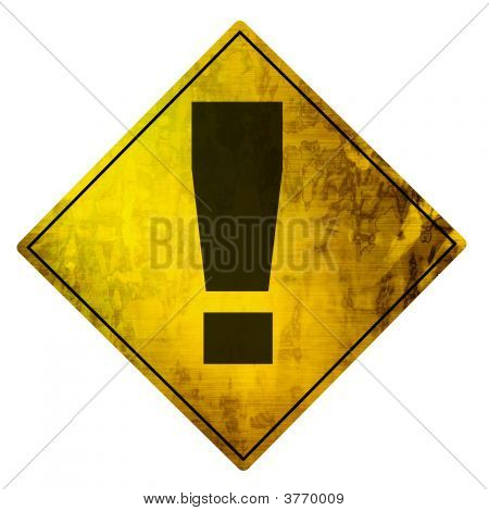 Yellow Road Sign