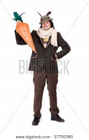 Young Man With Carrot