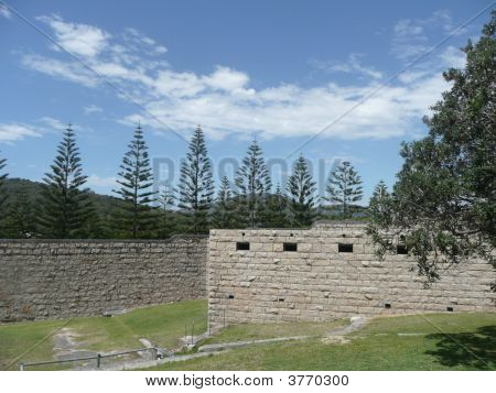 Convict Made Brick Walls Inside Trial Bay Gaol, Sth. West Rocks Nsw.