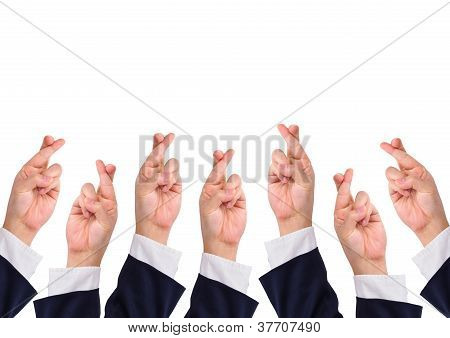 Conceptual Image, Finger Crossed Hand Signs