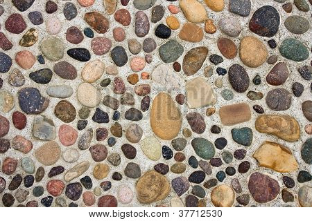 Pebbles In Concrete