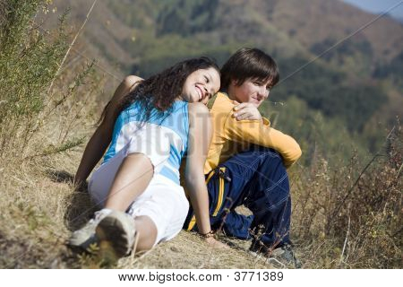 Couple At Mountain