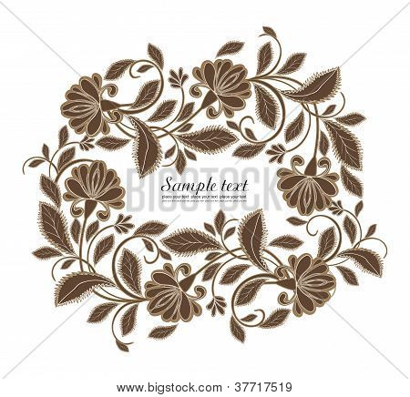 Vector flower frame