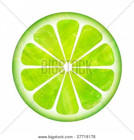 Slice Of Lemon Painting Illustration