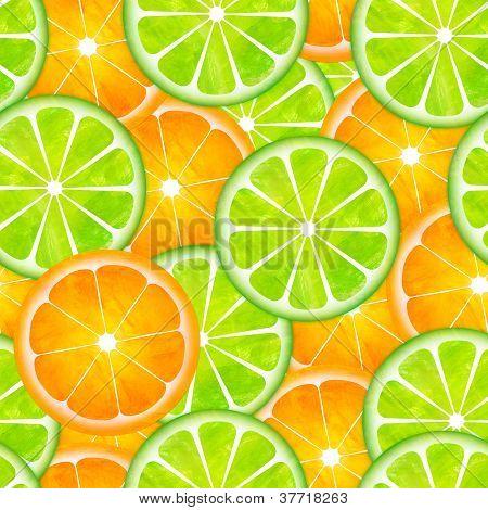 Sameless Lemon And Orange Pattern Painting