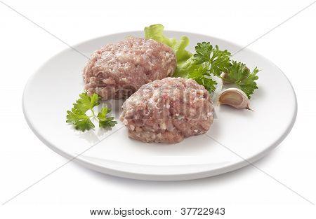 Raw Chicken Rissoles