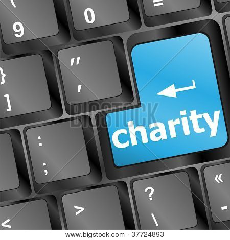 Key For Charity - Business Concept
