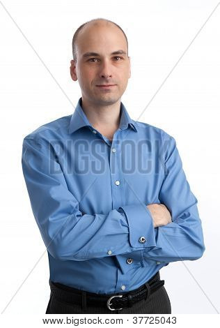 Business Man. Isolated Over White Background