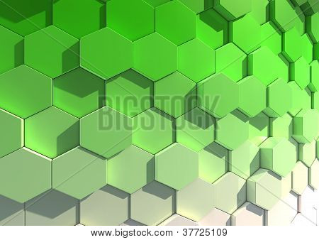 Abstract background image of green and white tiles