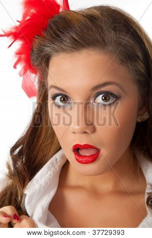 Surprised Pin-up Teenage Girl